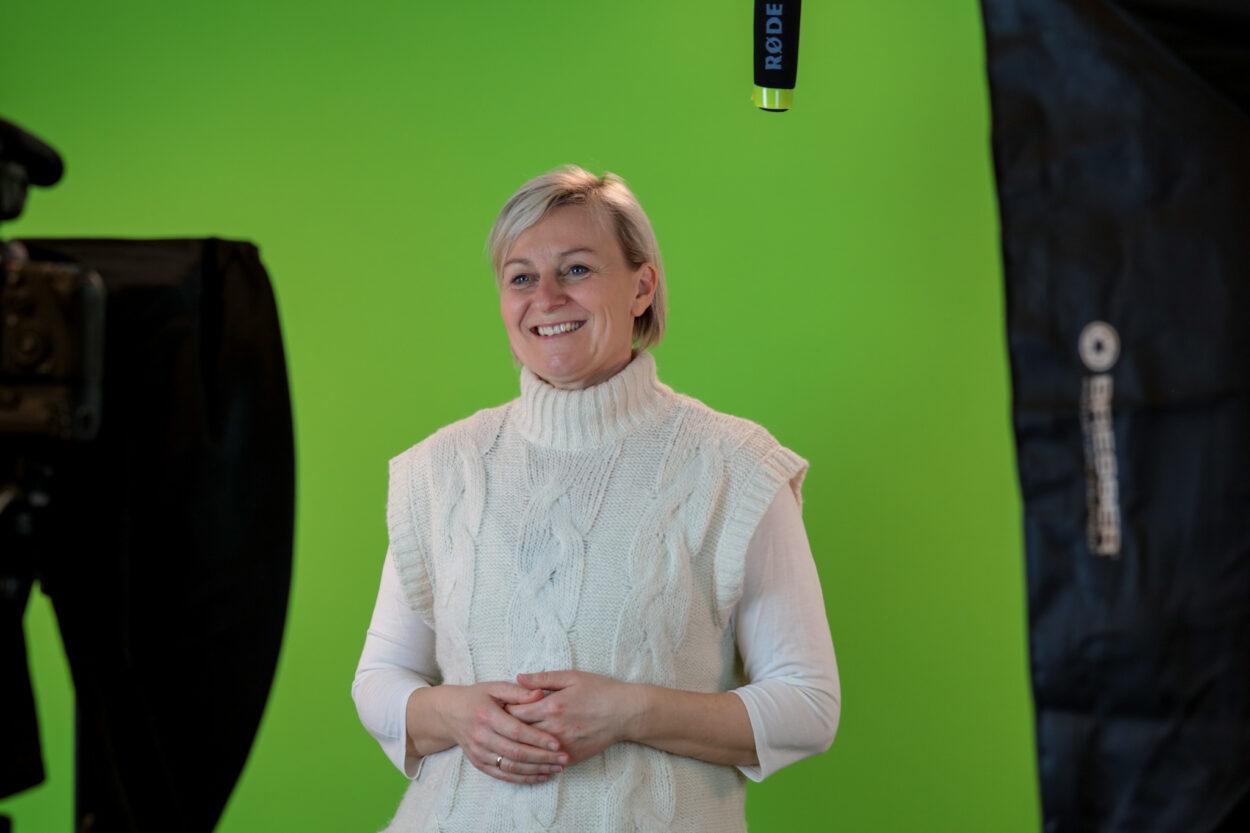 Lin Bush i Studiet hos Fagklog.dk